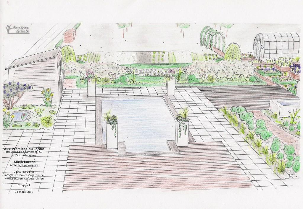 Aménagement contemporain piscine