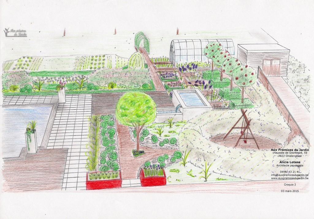 Jardin de curé contemporain bassin bac