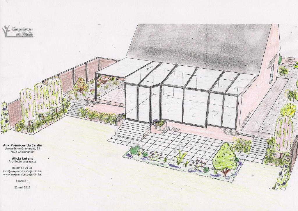 Terrasse, aménagement pourtour, plantations Aux Prémices du jardin