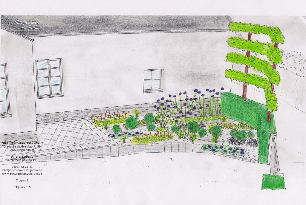 aux prémices du jardin plantation aménagement avant maison