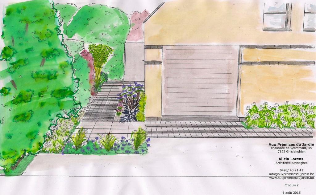 Zone d'aceeuil entrée maison Aux prémices du jardin