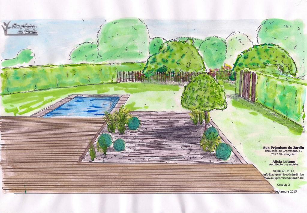 Aux prémices du jardin - architecte paysagiste - entrepreneur de jardin - terrasse - schiste - piscine - jardin - sobre