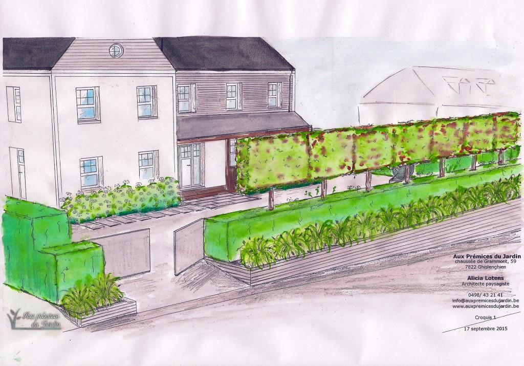Aux prémices du jardin  - architecte paysagiste - entrepreneur de jardin - silly - nouvelle construction - plantation