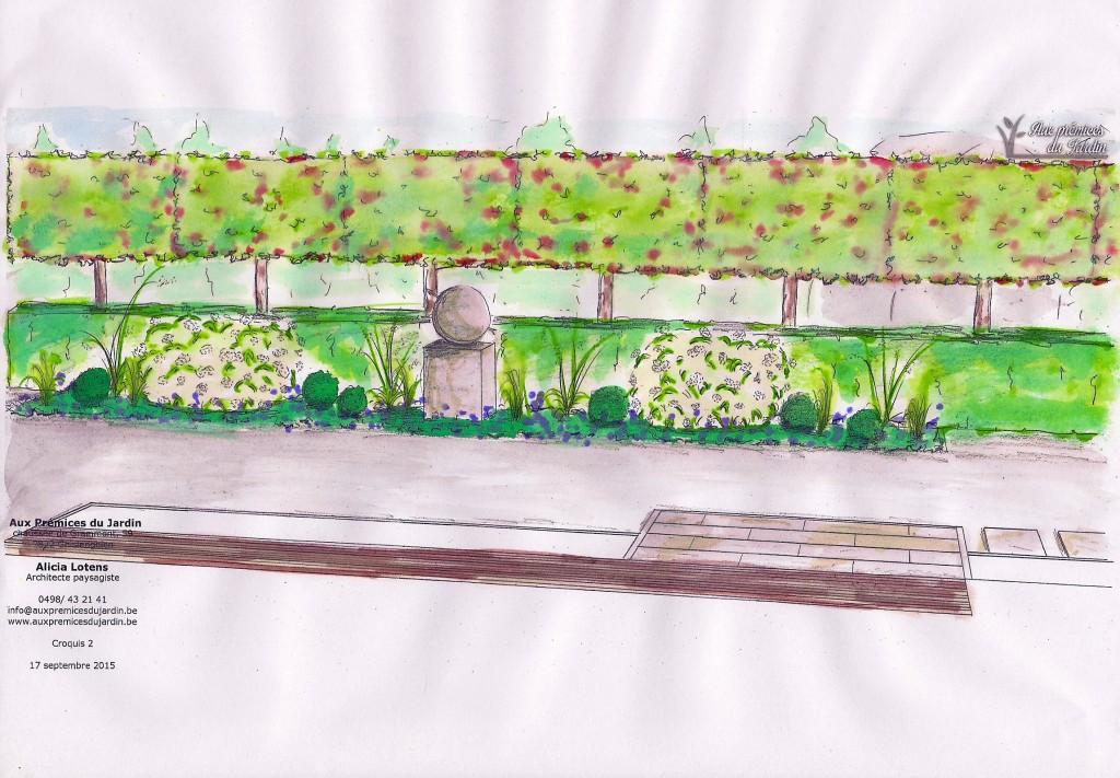 Aux prémices du jardin - architecte paysagiste - entrepreneur de jardin - statue - plantation - arbre en bandeau