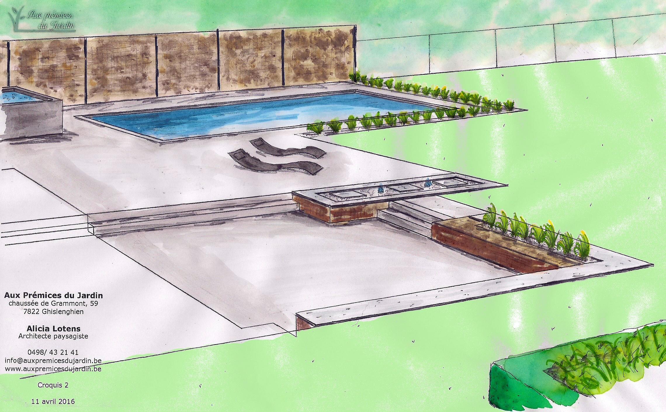 Croquis aux prémices du jardin conception aménagement ...