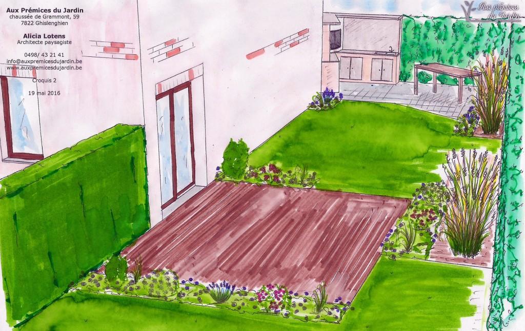 Terrasse et cuisine extérieure