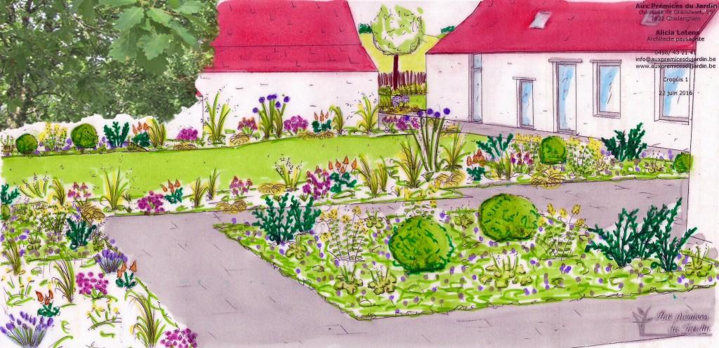 Aux prémices du jardin architecte paysagiste conception plan croquis ferme restaurée jardin