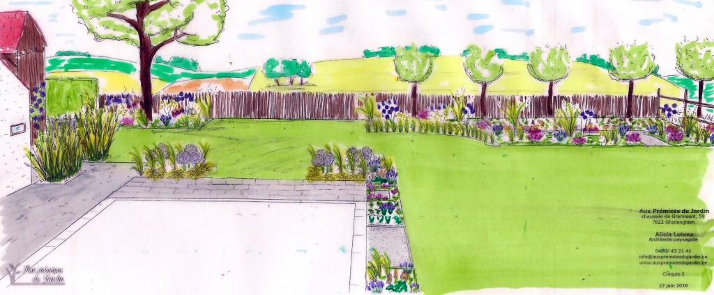 Aux prémices du jardin coneption plan architecte paysagiste croquis jardin ferme restaurée