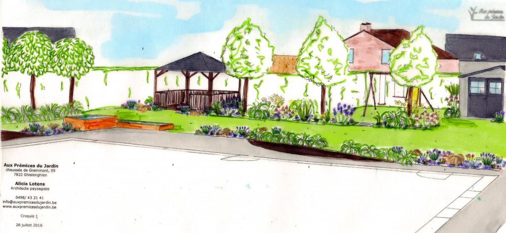 Aux prémices du jardin architecte paysagiste croquis aménagement conception